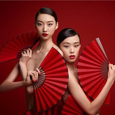 中国脸新红妆