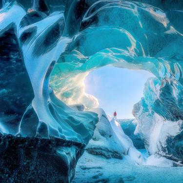 冰岛绝美蓝色冰洞 若童话里的水晶王国