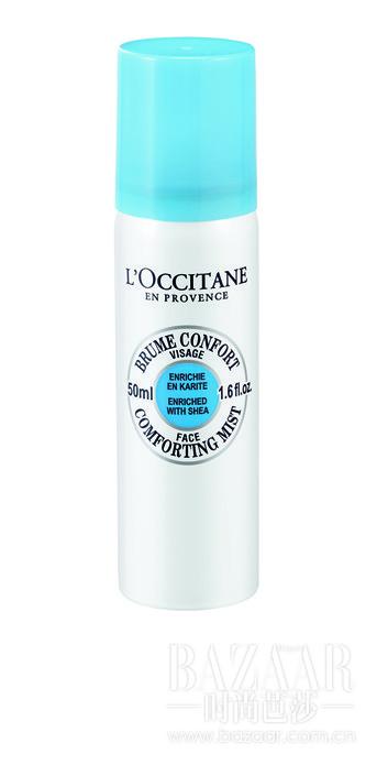 欧舒丹乳木果舒润保湿喷雾。λ细腻的水喷雾,有效深入毛孔滋养呵护每一寸肌肤。
