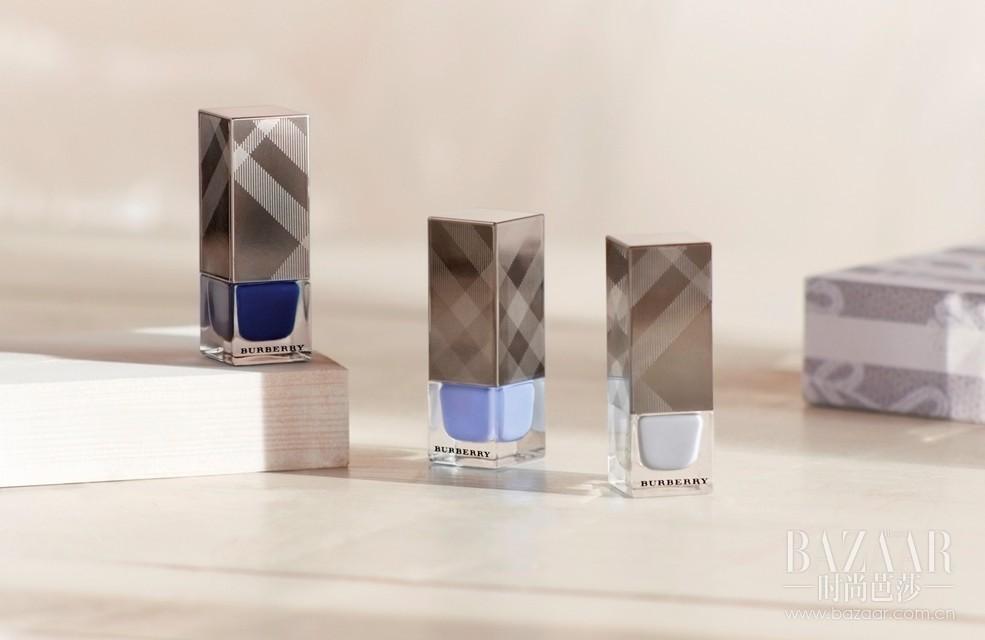 指甲油——朦胧灰115号-限量版;包装指甲油——天空蓝430号-限量版;包装指甲油——靛蓝色 428号-限量版包装。